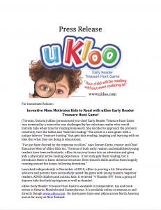 #1 - Original uKloo Launch Press Release