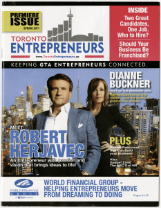 Kelly Toronto Entrepreneurs Cover